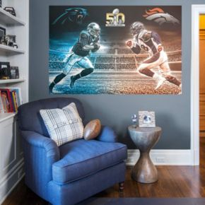 NFL Super Bowl 50 Collison Course Mural Wall Decal by Fathead