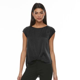 Women's Apt. 9® Satin Twist-Front Tee