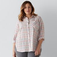 Plus Size SONOMA Goods for Life™ Essential Shirt