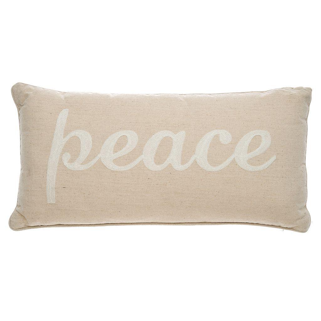 Levtex Valencia ''Peace'' Oblong Throw Pillow