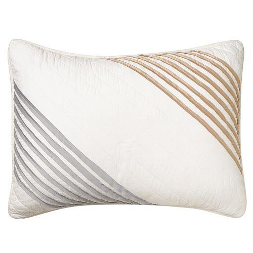 Always Home Stanton Stripe Embroidered Throw Pillow