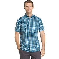 Men's IZOD Advantage Cool FX Regular-Fit Plaid Button-Down Shirt