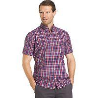 Men's IZOD Advantage Cool FX Regular-Fit Plaid Button-Down Shirt