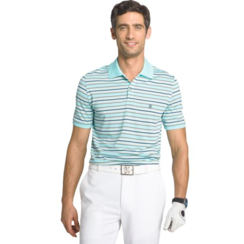 Men's IZOD Classic-Fit Feeder-Striped Performance Golf Polo
