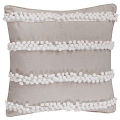 Levtex Pom Pom Burlap Throw Pillow