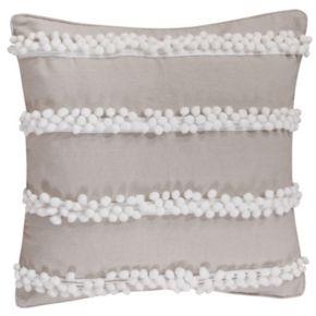 Levtex Pom Pom Burlap Throw Pillow