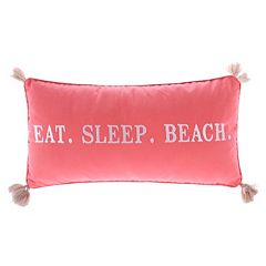 Levtex ''Eat, Sleep, Beach'' Oblong Throw Pillow
