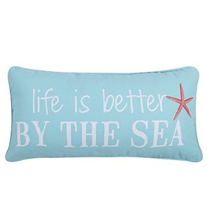 Levtex ''Life Is Better By The Sea'' Oblong Throw Pillow