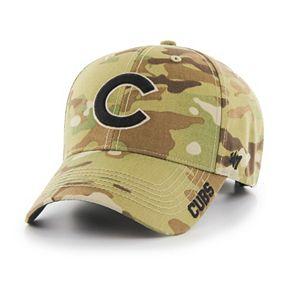 Adult '47 Brand Chicago Cubs Frost MVP Multicam Adjustable Cap
