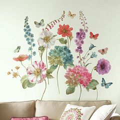 Lisa Audit Garden Flowers Peel & Stick Wall Decal 25-piece Set by Roommates