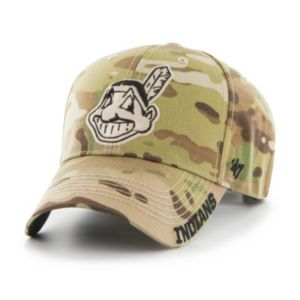 Adult '47 Brand Cleveland Indians Frost MVP Multicam Adjustable Cap