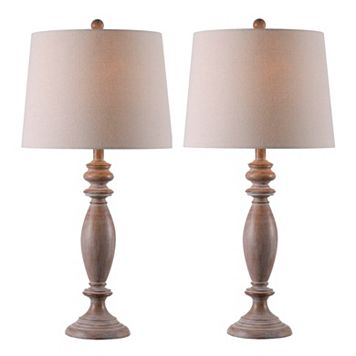 Kenroy Home Washed Finish Table Lamp 2-piece Set
