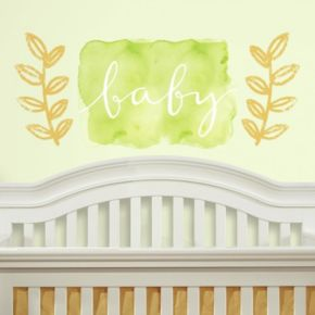 """Kathy Davis """"Baby"""" Peel & Stick Wall Decal 3-piece Set by Roommates"""