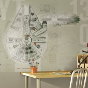 Star Wars Millennium Falcon Mural Wall Decal 5-piece Set by Roommates