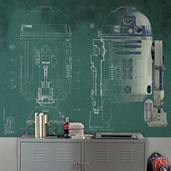 Star Wars R2-D2 Mural Wall Decal 5 pc Set by Roommates