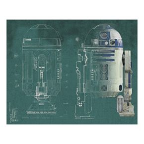 Star Wars R2-D2 Mural Wall Decal 5-piece Set by Roommates