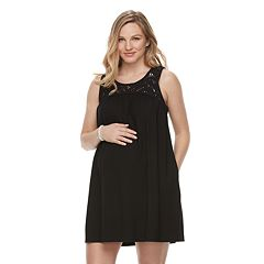 Maternity a:glow Crochet Tank Dress