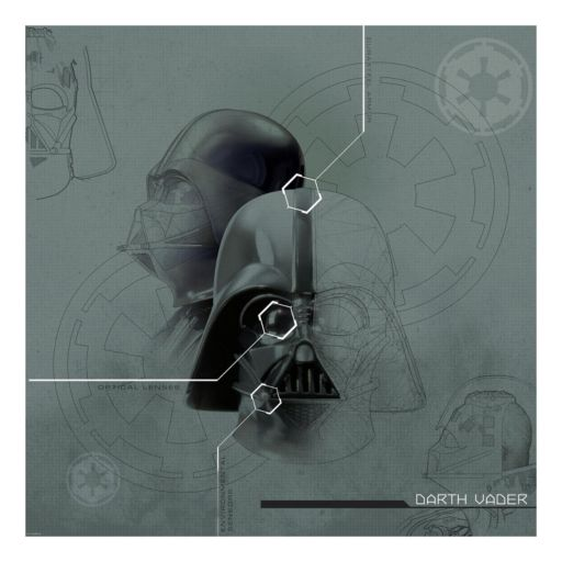 Star Wars Darth Vader Mural Wall Decal 4-piece Set by Roommates