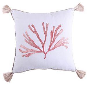 Levtex Coral Throw Pillow
