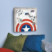 Marvel Captain America Shield Magnetic Canvas Wall Art by Roommates