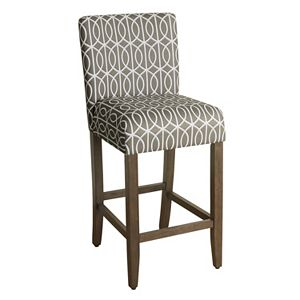 HomePop Finley Geometric Bar Stool