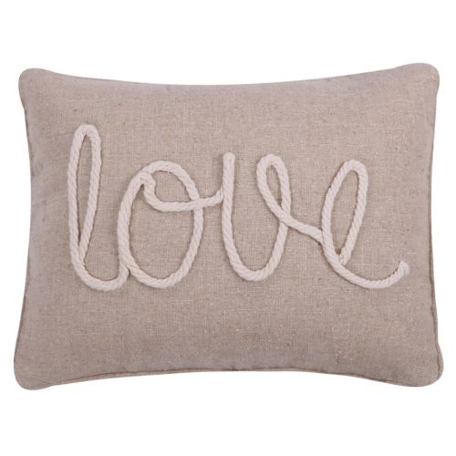 "Levtex ""Love"" Rope Oblong Throw Pillow"