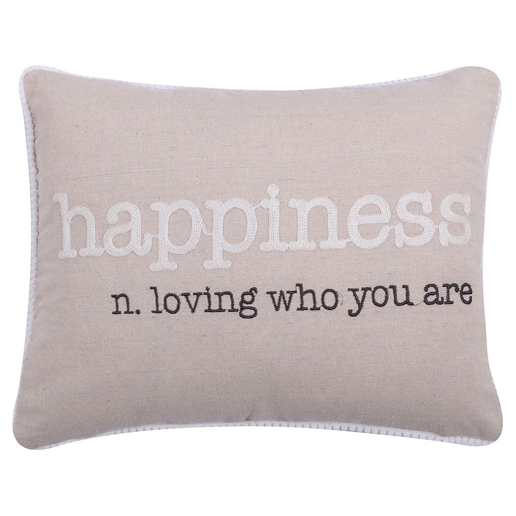 Levtex ''Happiness'' Oblong Throw Pillow