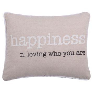 Levtex ''Happiness'' Oblong Throw Pillow