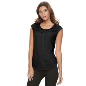 Juniors' Candie's® Lace Cap Sleeve Top