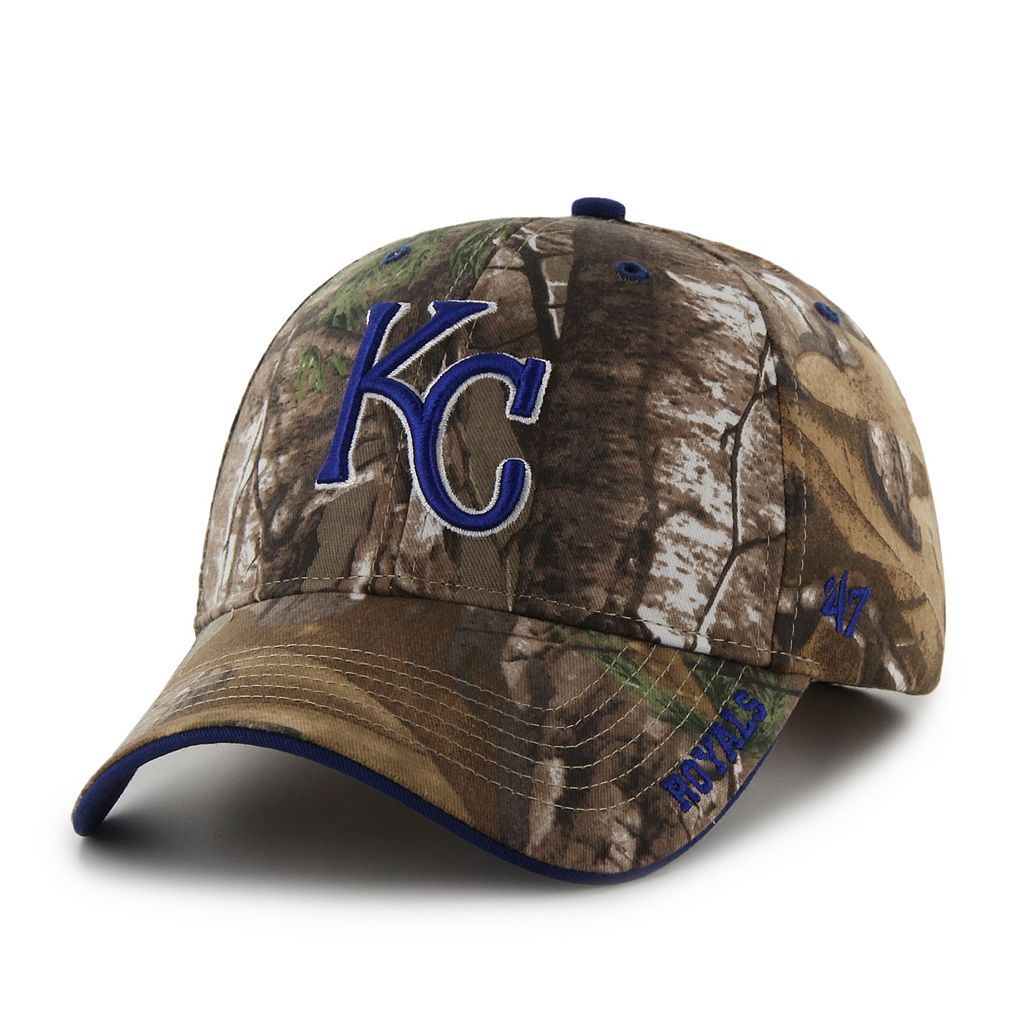 Adult '47 Brand Kansas City Royals Frost Realtree Camouflage Adjustable Cap
