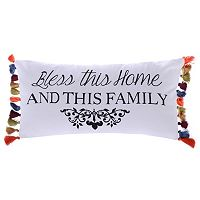 Levtex ''Bless This Home'' Oblong Throw Pillow