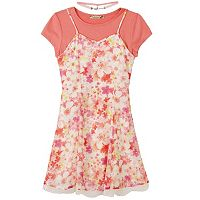 Girls 7-16 Speechless Floral Slipdress T-Shirt Dress & Choker Necklace Set