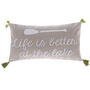 Levtex ''Life Is Better At The Lake'' Oblong Throw Pillow