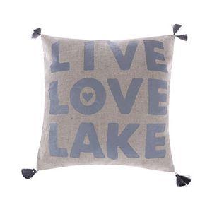 Levtex ''Live, Love, Lake'' Throw Pillow