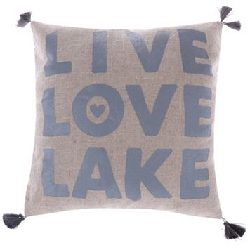 Levtex ''Live, Love, Lake'' Throw Pillow