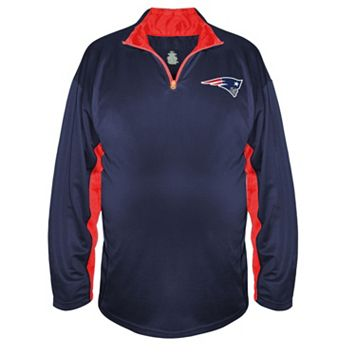Big & Tall Majestic New England Patriots Quarter-Zip Pullover