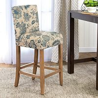HomePop Lexie Floral Bar Stool