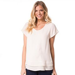 Maternity Pip & Vine by Rosie Pope Double-Layer Tee