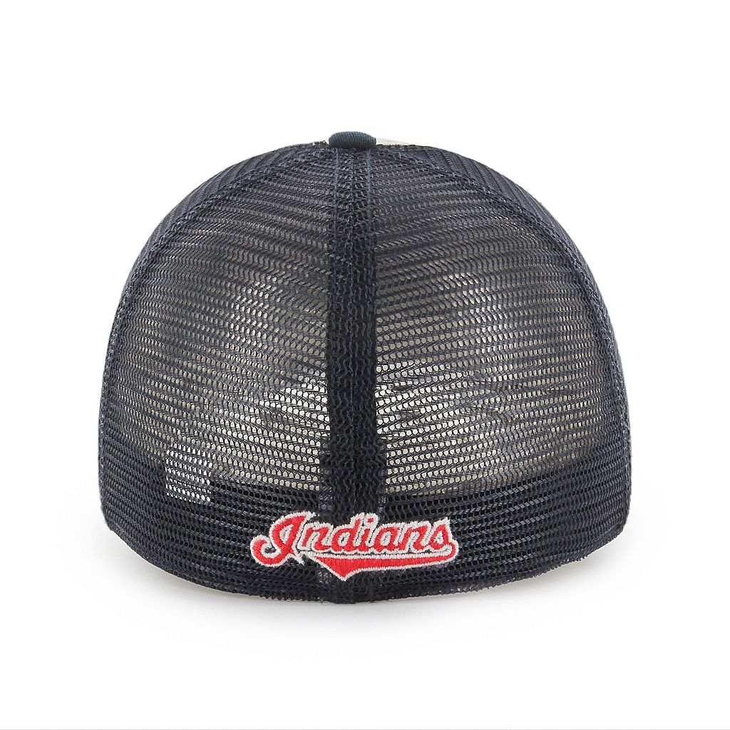 Adult '47 Brand Cleveland Indians Ravine Closer Storm Fitted Cap