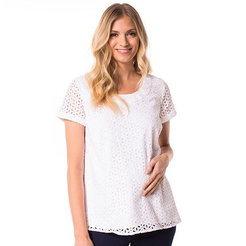 Maternity Pip & Vine by Rosie Pope Lace Tee