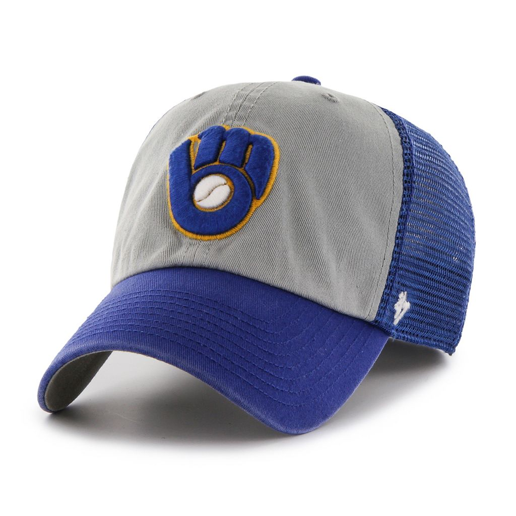 Adult '47 Brand Milwaukee Brewers Ravine Closer Storm Fitted Cap