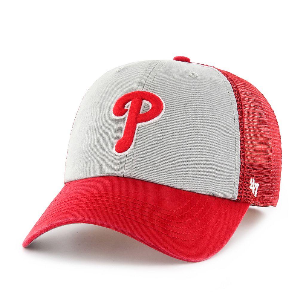 Adult '47 Brand Philadelphia Phillies Ravine Closer Storm Fitted Cap