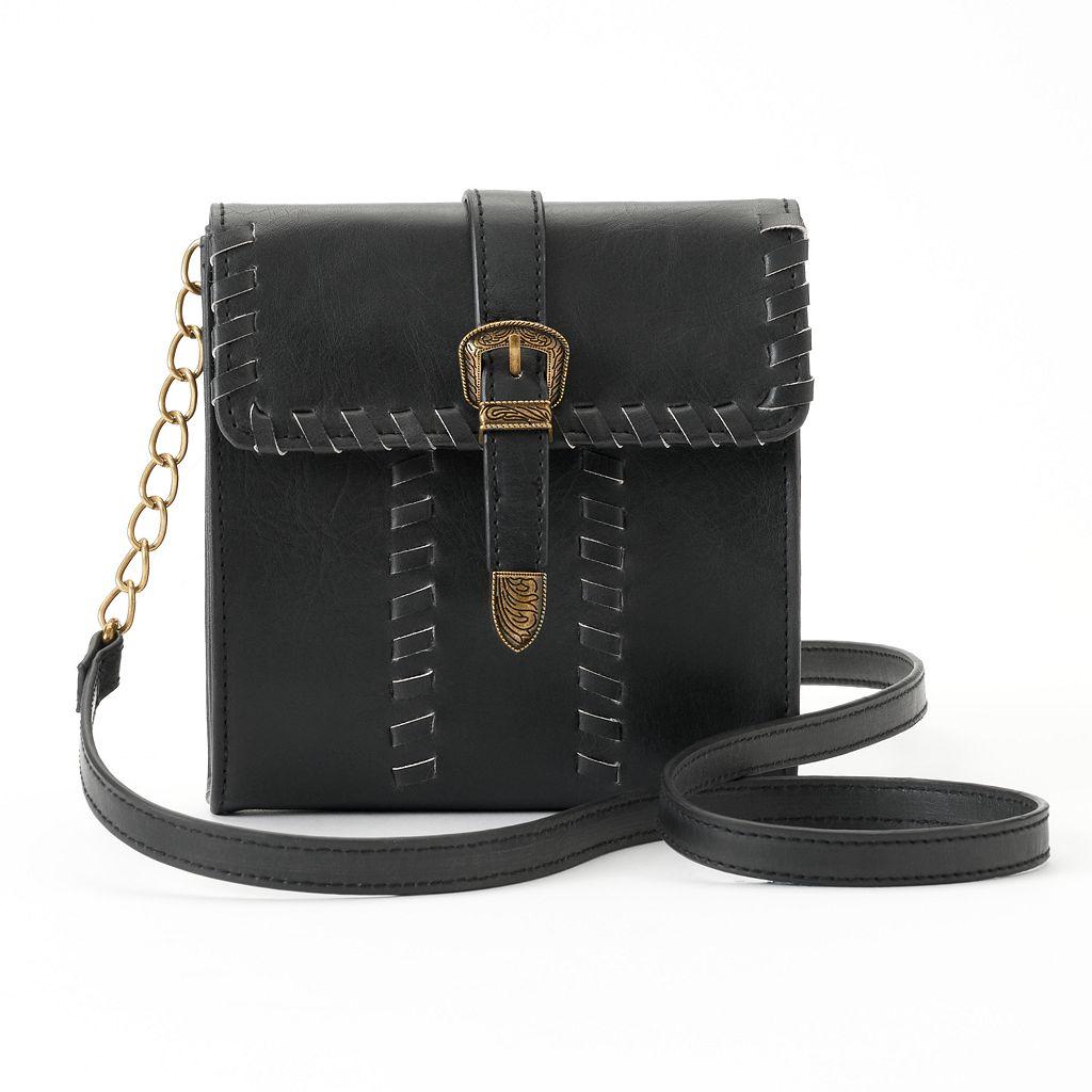 Mudd® Whipstitch Buckle Crossbody Bag
