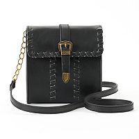 Mudd® Whipstitch Buckle Crossbody Bag