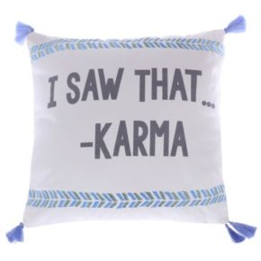 Levtex ''I Saw That - Karma'' Throw Pillow