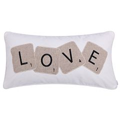 Levtex ''Love'' Letter Tiles Oblong Throw Pillow