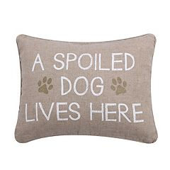 Levtex ''Spoiled Dog'' Oblong Throw Pillow