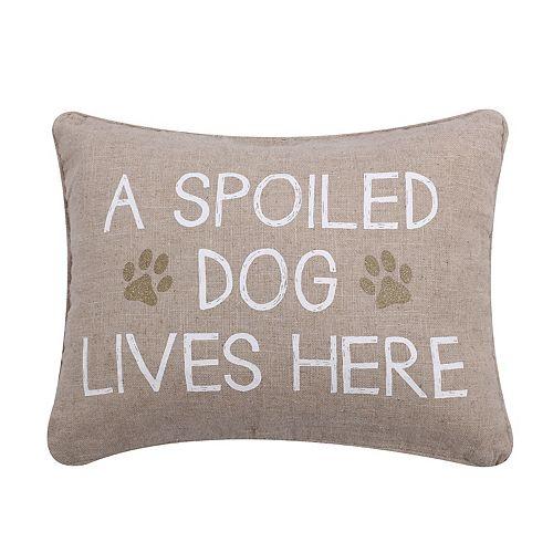 Levtex ''Spoiled Dog'' Oblong Throw Pillow