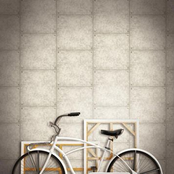 Roommates Faux Cement Peel & Stick Wallpaper Wall Decal