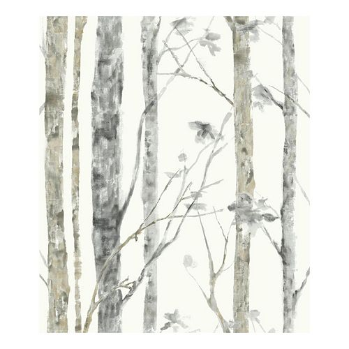 Roommates Faux Birch Trees Peel & Stick Wallpaper Wall Decal